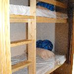  The bunk beds with only sleeping bags