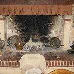 The old hearth where 100's of years ago the food was cooked