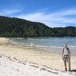 Walking in Abel Tasman - having taken a sea taxi