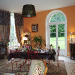 Elegant breakfast room at le Petit Chateau