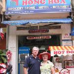 Outside the Hong Hoa Hotel, HCMC