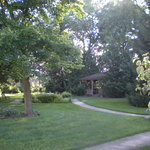  The grounds behind the main house