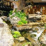 Indoor water scene at Smoky Mountain Knife works