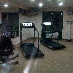 Fitness room, one machine out of order
