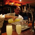 Santiago the barman in Bar Don Rodrigo