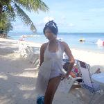 me at Saipan Grand Hotel beach area