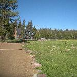 Spirit Lake Lodge and the meadow
