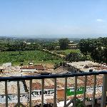 View from balcony with Mt Elgon in distance