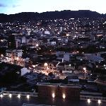 View of Loja at sunset from my room 1012