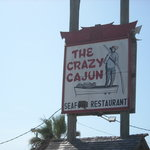 Crazy Cajun Port Aransas Sign