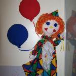 Dusty Clown in bathroom