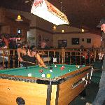 Playing pool at the Best Westerns lounge