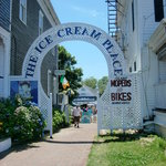 The Ice Cream Place Arch leads directly to the best ice cream on Block Island