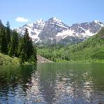 up at the Maroon Bells.