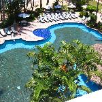 Pools seen from room