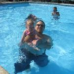  Faith and Daddy in pool