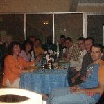 Group dining at the restaurant