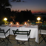 table for 4 under the stars on the 'Lavanta' terrace