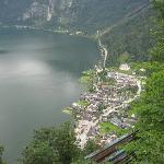 View of Hallstatt from salt mine