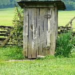 Outhouse at Mountain Farm Museum