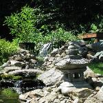 Brook/fountain in backyard garden