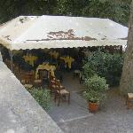 The patio area of restaurant