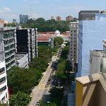 View along Bencoolen St from rooftop pool