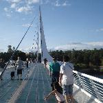 Me, my dad and my daughter at Sundial Bridge