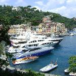  Big yacht in the port of Portofino