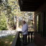  On the porch of our cabin in South Lake Tahoe.