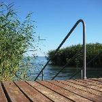 View from the private jetty to Lake Balaton