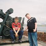 billy and conner on one of the guns