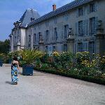 Beautiful Gardens behind the Chateau.  Nobody around.
