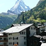 View of the Matterhorn from our room at the Parnass