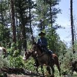 Our trail ride guide.