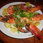 Splendid Tiger prawns on Bob Marley's menu