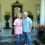 Arlene & Bob in front of Harmony House