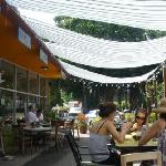Outdoor Dining Patio at Farmer and The Cook