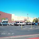 Looking at Viejas casino from the parking lot