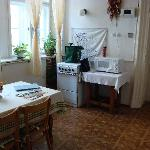  the kitchen area-spranger apt