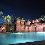  Pool at night...
