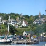View of Bayfield from pier