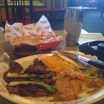 Carne asada and Top Shelf Margarita
