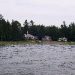View of Seaside Cottages from the water