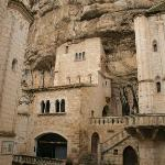 Sanctuaire Notre Dame de Rocamadour was built right into the rocks