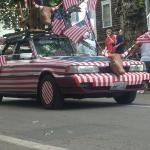 Awesome patriotic car