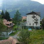 View of Hotel Brunner from train coming down from Junfrau