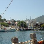  Yalikavak harbour with restaurants