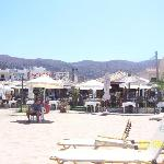 Stalis beach mountain view