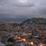 Quito at Dusk from the terrace